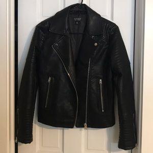 Black leather TopShop jacket